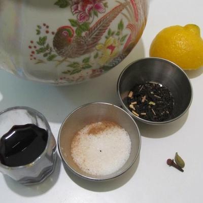 Чай с красным вином. Рецепт