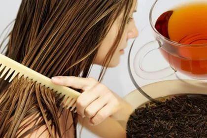 Черный чай от выпадения волос