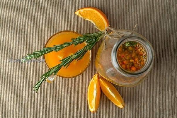 Облепиховый чай с апельсином
